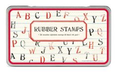 Cavallini Rubber Stamps Alphabet Assorted with Ink Pad -- Amazon most trusted e-retailer #ChildrenArtsCrafts
