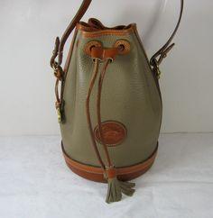 Dooney & Bourke Bucket Bag Pebble Leather by LavenderGardenCottag Medicine Bag, Hobo Bag, Tote Handbags, Dooney Bourke, Pebbled Leather, Bucket Bag, Women's Fashion, Purses, My Style