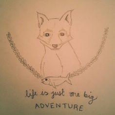 #fox #life #adventure #pencil #sketch #doodle #illustration