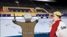 VICTOR SO USED TO HUGGING YUURI AFTER A PERFORMANCE HE GOT DISORIENTED