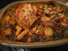 Schweinebraten aus der Nuss - Peter Witt mit Pampered Chef Pampered Chef, Witt, Pork, Chicken, Pork Roast, Meat Dish, Oven, Easy Meals