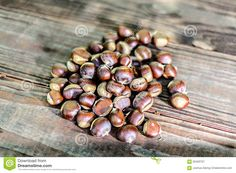 Chestnuts On Wooden Table Outdoors - Download From Over 45 Million High Quality Stock Photos, Images, Vectors. Sign up for FREE today. Image: 60400707
