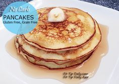 No Carb Pancakes 2 eggs 2 ounces of cream cheese 1 packet of sweetleaf stevia or any other sweetener 1/2 teaspoon of cinnamon (optional) blend in a blender until smooth, then wait until bubbles are gone.