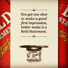 Bold Statements Identity - You get one shot to make a good first impression, better make it a Bold Statement