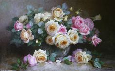 artist Nikolaev Jury, Tea roses