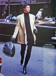 Vogue US - Camel's back - Linda Evangelista - Sep 1989