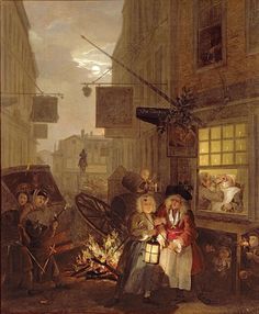 The Four Times of Day: Night, 1736 Wall Art & Canvas Prints by William Hogarth William Hogarth, Canvas Wall Art, Canvas Prints, Art Prints, Penny Dreadful, English Artists, Thing 1, Art Uk, Art History