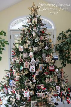 Stitching Dreams: It's beginning to look a lot like Christmas...tree with all cross stitch ornaments