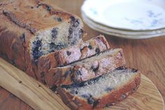 Excellent Banana bread with blueberries Healthy Sugar, Healthy Cake, Healthy Baking, Chocolate Lasagne, Blueberry Banana Bread, Good Food, Yummy Food, Just Eat It, Gluten Free Cakes