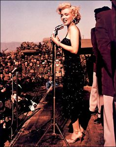 Marilyn Monroe entertaining the troops in Korea 1954