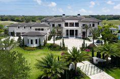 The Rockybrook Estate, 9192 Rockybrook Way, Delray Beach, Palm Beach - Senada Adzem Cool Mansions, Mega Mansions, Mansions Homes, Florida Mansion, Beach Mansion, Delray Beach Florida, South Florida, Palm Beach, Cool Minecraft Houses