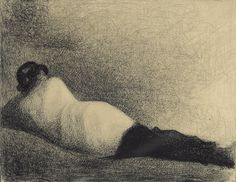 Reclining Man. George Seurat