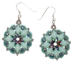 BeadSmith Project Primrose Earrings