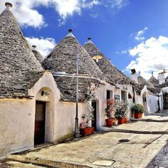 Alberobello... Houses built with stones only so that when the villagers had to flee their foe, they took their homes with them.