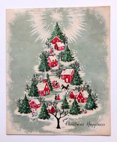 Vintage Christmas card 🎄 by Vintage Christmas Vintage Christmas Images, Retro Christmas, Vintage Holiday, Christmas Pictures, Christmas Art, Christmas Greetings, Christmas Themes, Christmas Design, Christmas Holidays