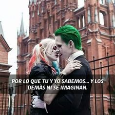 Cosplay Its so stupid that their mariage didnt come into the movie, they just look so adorable ❤️ - Shop /category/harley Quinn/ at GEEKOJI. Funny Spanish Memes, Spanish Quotes, Joker Tatto, Happy Pictures, Joker Cosplay, Love Phrases, Joker Quotes, Joker And Harley Quinn, Romantic Love Quotes