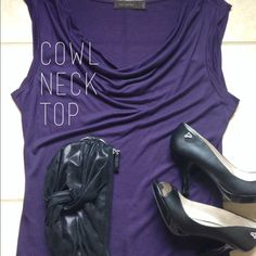 The Limited Cowl Neck Top A deep purple cowl neck top for the office! Looks great with slacks and heels! The Limited Tops