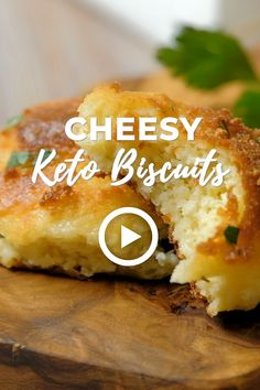 Cheesy Keto Biscuits by Plain Chicken. This easy recipe is made with cream cheese, mozzarella cheese, eggs, baking powder, almond flour and melted but. Low Carb Keto, Low Carb Recipes, Diet Recipes, Healthy Recipes, Healthy Baking, Lunch Recipes, Healthy Meals, Crockpot Recipes, Keto Cheese