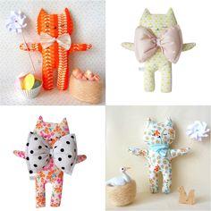 """handmade soft toy cats"""