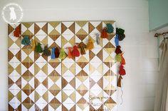 make a tassel garland {felt and yarn} - the handmade homethe handmade home