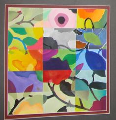 """Claire Saponaro  said, """"first we make our own color wheel and then divide an image up into shapes and show color mixing using analogous, triadic, complimentary, split complimentary,monochromatic color combinations."""""""