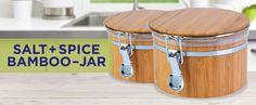Amazon.com: Bamboo Jar Canister 20oz: Spice Racks: Kitchen & Dining