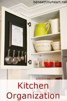 Organize the measuring cups in your kitchen with this great how-to project! You can also include a measuring conversion chart for convenience.