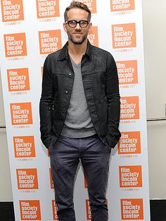 From his slicked-back tresses, to his scruffy beard, to his chunky black square specs, Ryan Reynolds is utterly irresistible!