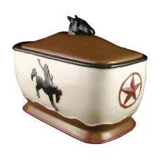 Bread Box, Toast Jar Western Cowboy Decor