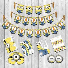 Despicable Me  Inspired Minion Party Pack Instant by Shnookers, $25.00