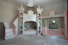 Princess Ballerina Castle Bed and Luxury Baby Cribs in Baby Furniture : Ultimate Posh at PoshTots Playhouse Bed, Castle Bed, Disney Rooms, Princess Room, Princess Beds, Daughters Room, Awesome Bedrooms, Little Girl Rooms, Baby Furniture