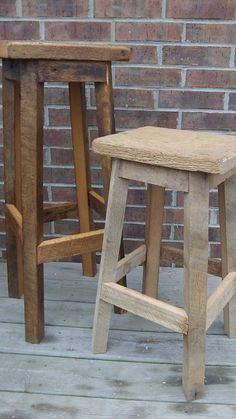 Chaise de bar en bois de bateaux de java recycl pi ce - Chaise de bar en bois ...