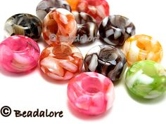 30 Coreless Euro Beads  - Mix. Starting at $1 on Tophatter.com!