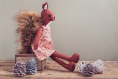 Make Me Rowan Squirrel - CoolCrafting Rowan, Knitting Needles, Pattern Paper, Squirrel, Wool Blend, Objects, Felt, Colours, How To Make