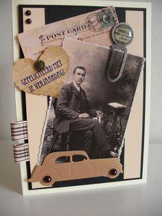 Nostalgische mannenkaart..