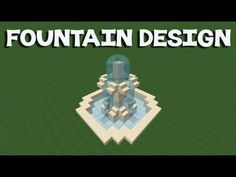 Minecraft Tutorial: How To Make A Fountain Minecraft Building Blueprints, Minecraft Plans, Minecraft Tutorial, Minecraft Projects, Minecraft Crafts, Minecraft Furniture, Minecraft Greenhouse, Minecraft Fountain, Minecraft Garden