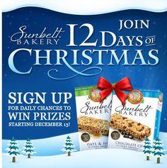 Sunbelt Bakery's 12 Days of Christmas Sweepstakes