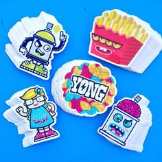 Sticker Pack by Brazilian Street Artist Yong currently available at the Redefine Galleryy.