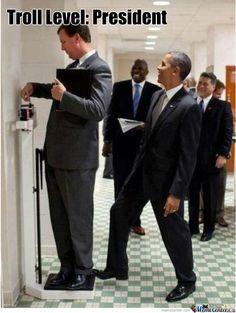Troll level: President