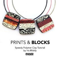 FREE Polymer Clay Tutorial - Carved Wooden Printing Blocks Polymer Clay Jewelry