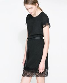 Woolen Dress with Lace Trim #Zara : Minimal + Classic   Nordhaven Studio