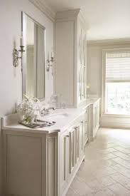 The cabinets are Sherwin Williams Downing Sand -- SW 2822 July 3, 2014 at 8:49AM   Likegrey vanity travertine floor - Google Search
