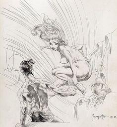 """A Gentle Breeze"" (1963)by Frank Frazetta."