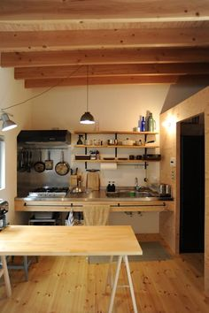 30 Luxury Japanese Kitchen Style Decoration Ideas For You Simple Kitchen Design, Industrial Kitchen Design, Rustic Kitchen, Interior Design Kitchen, Kitchen Dining, Kitchen Layout, Country Kitchen, Kitchen Island, Kitchen On A Budget