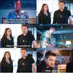 Civil War : Clint and Wanda