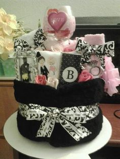 Wedding Night / Bridal Shower  Blanket Cake by babycakesdiapers,