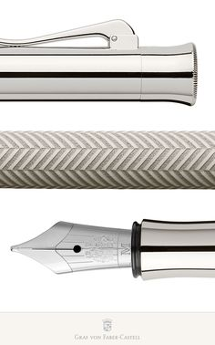 The barrel is hand-lacquered and repeatedly polished. Graf Von Faber Castell, Calligraphy Handwriting, Pens And Pencils, Pencil And Paper, Fountain Pen Ink, Writing Paper, Writing Instruments, Precious Metals, Sword