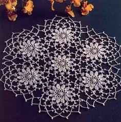 DOILY_Gorgeous Lace Irish Flower with Picots