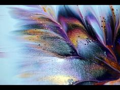 Easy Abstract Painting / Colorscape / Colorful Demo / Satisfying / Project 365 d… - diy projects Acrylic Pouring Techniques, Acrylic Pouring Art, Acrylic Resin, Acrylic Art, Acrylic Flowers, Abstract Flowers, Abstract Art, Fluid Acrylics, Pour Painting