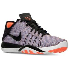 Nike Women's Free Tr 6 Print Training Sneakers from Finish Line ($70) ❤ liked on Polyvore featuring shoes, sneakers, training shoes, nike, print shoes, mesh trainers and lightweight sneakers
